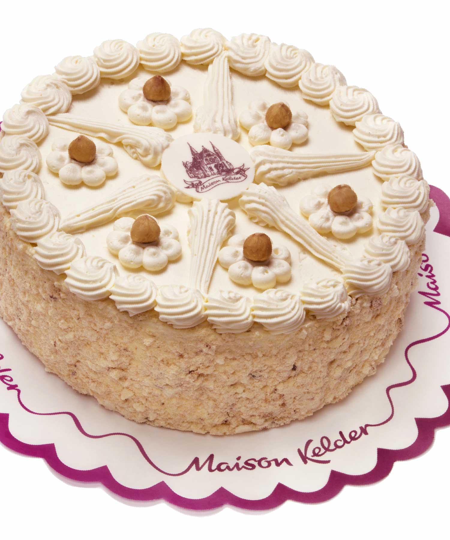 Maison Kelder hazelnoot taart M-space