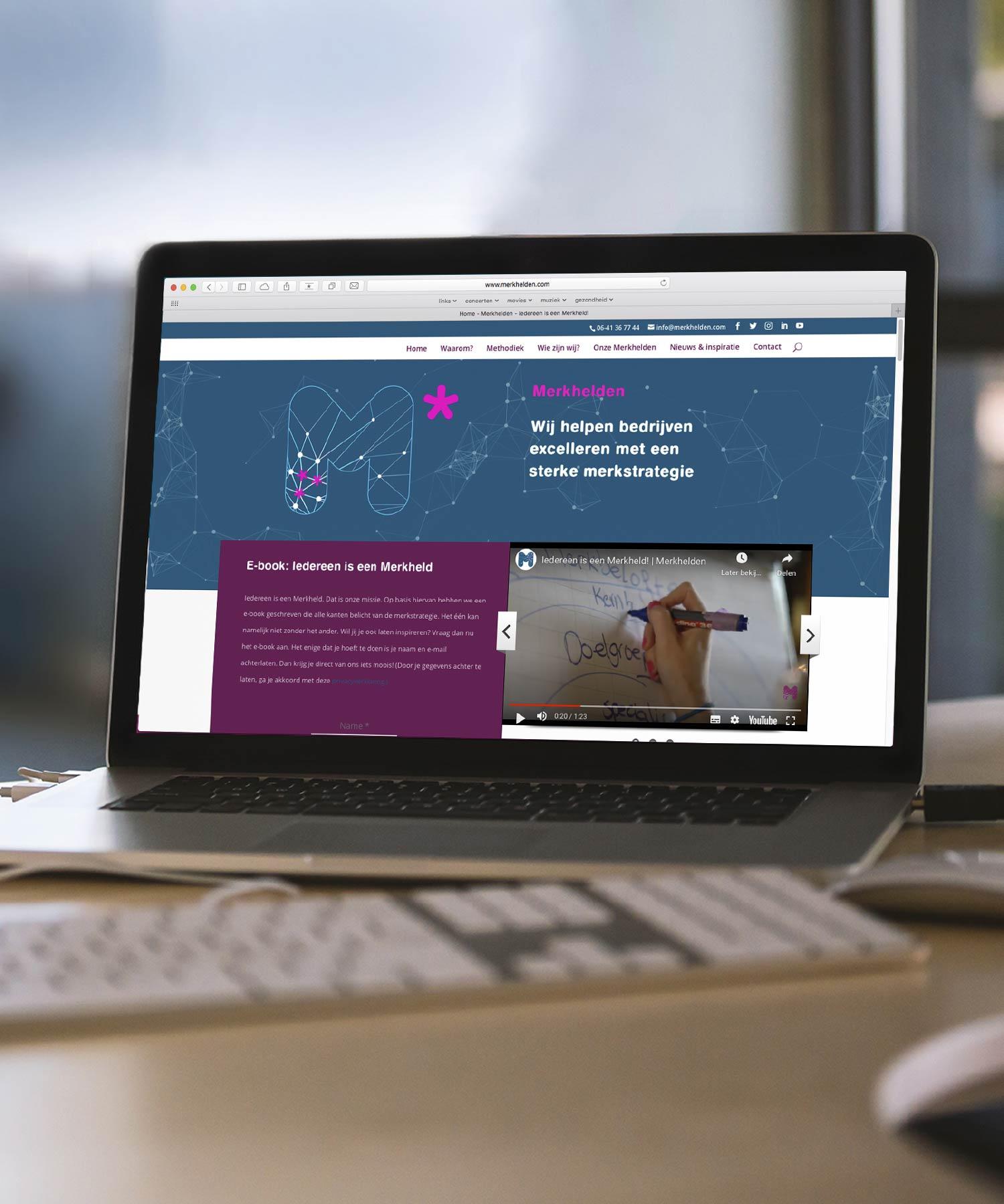 Merkhelden website M-space
