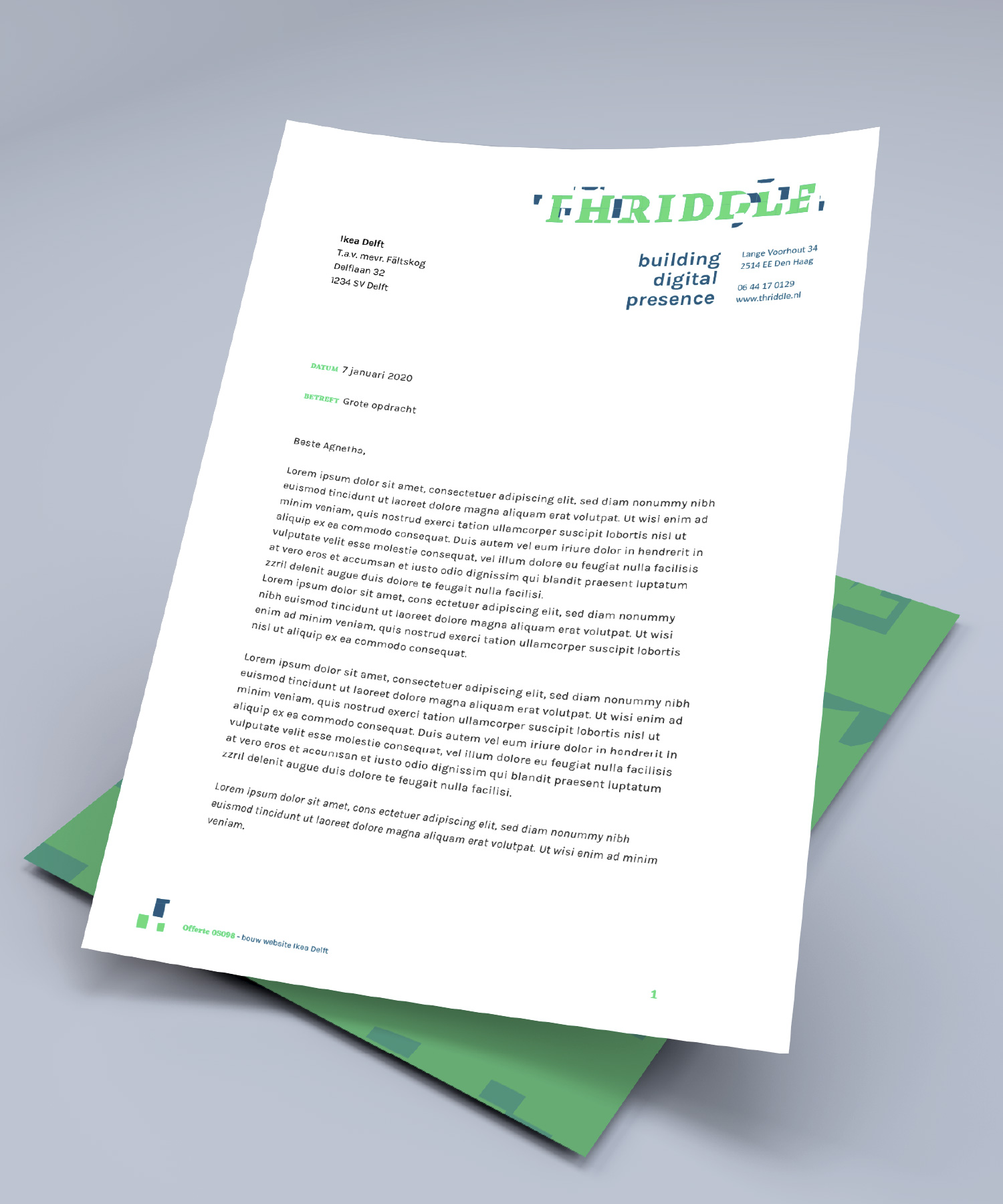 Thriddle briefpapier M-space