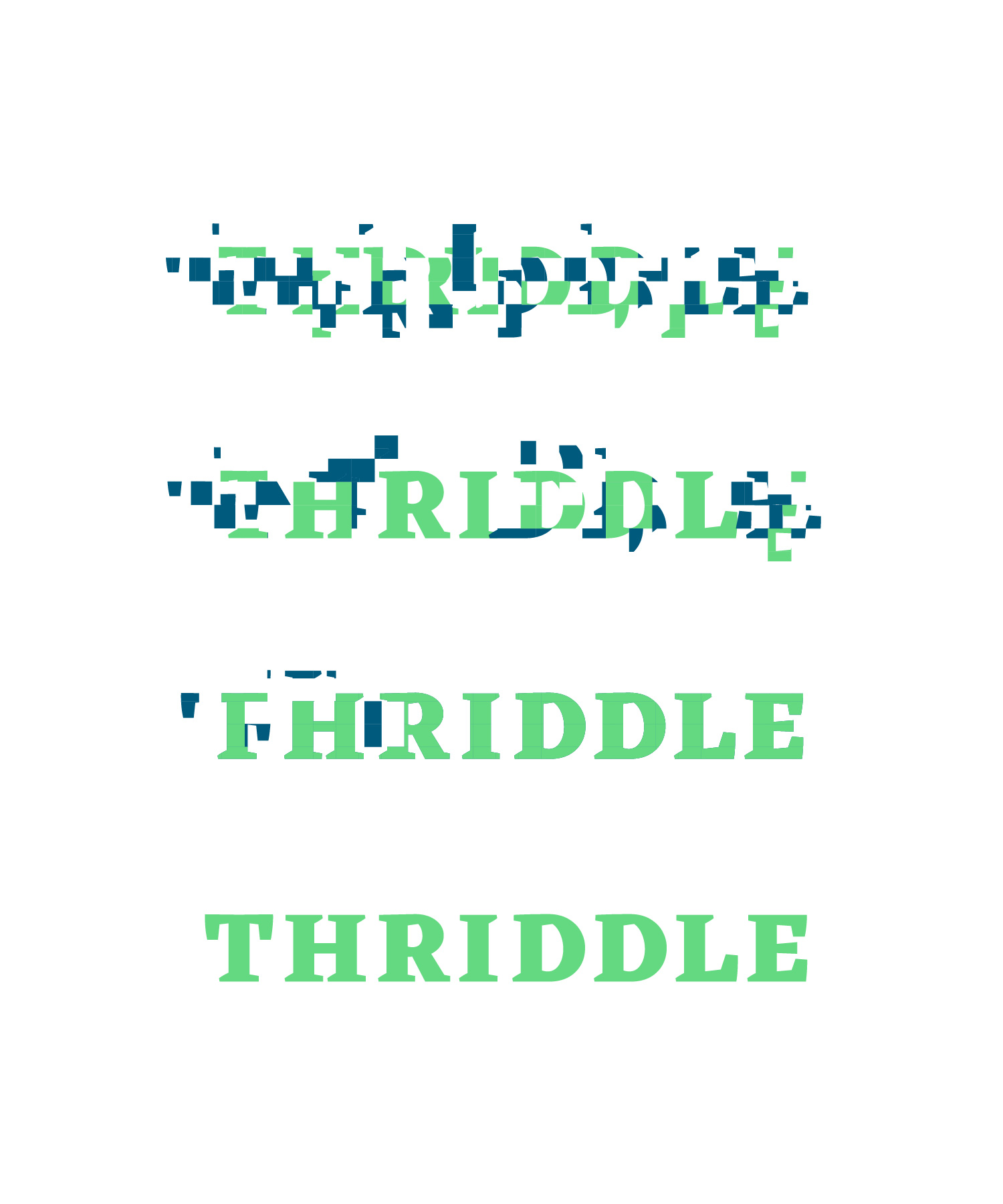 Thriddle logo animatie M-space