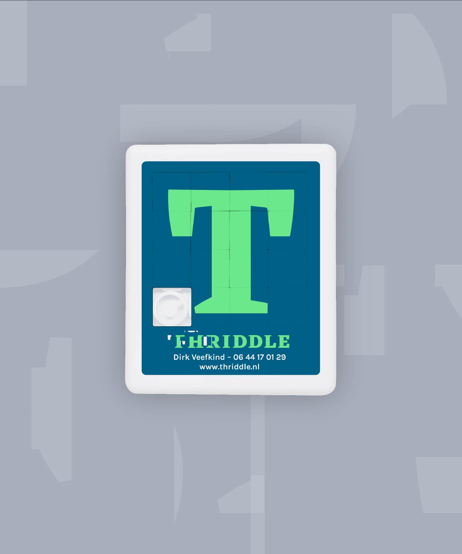 Thriddle schuifpuzzel M-space