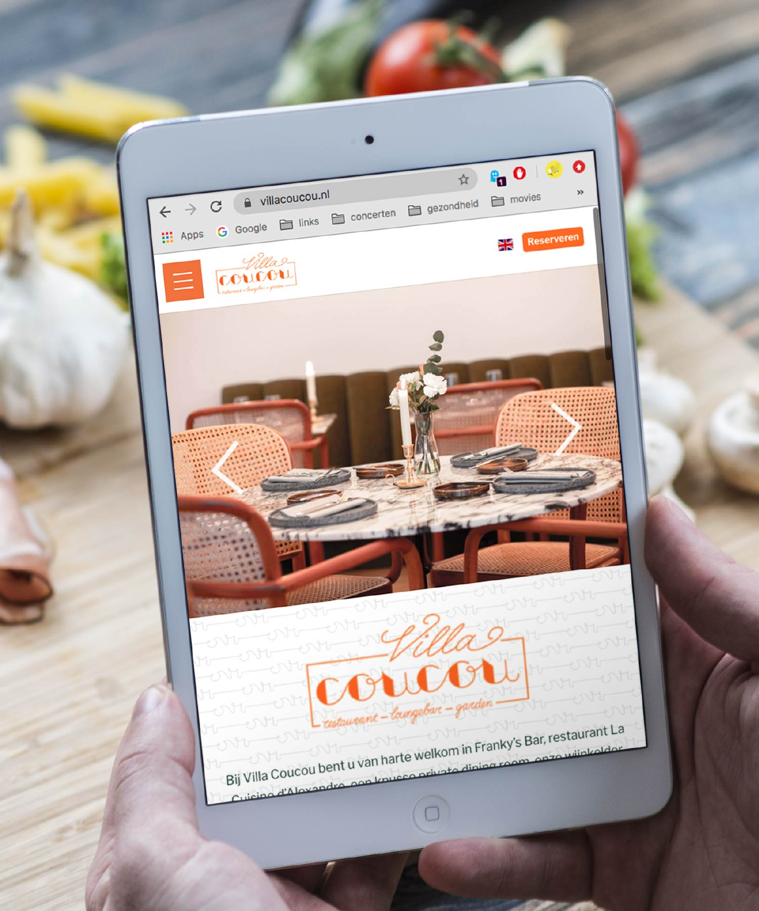 Villa Coucou website M-space